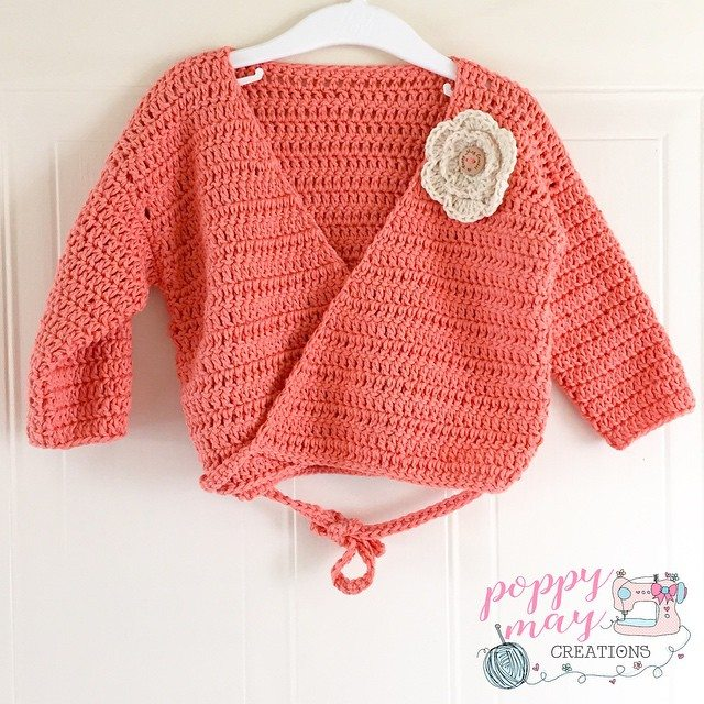 poppymaycreations crochet ballerina cardi
