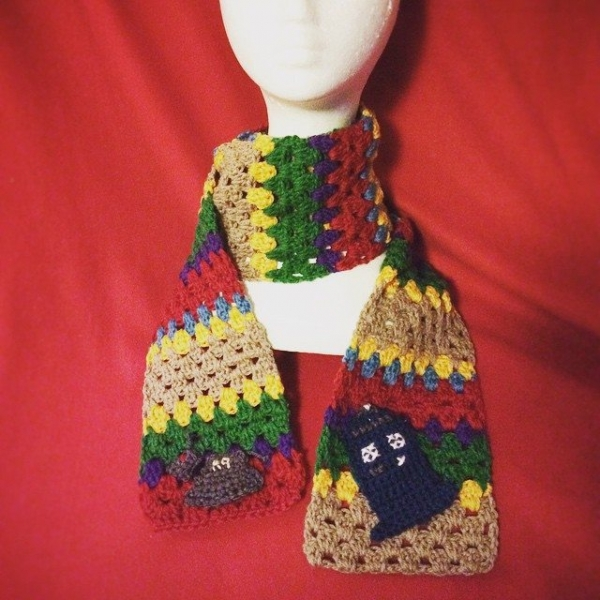 roguewueen crochet dr who scarf
