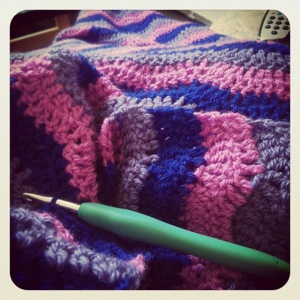 silvery_cloud crochet ripple blanket