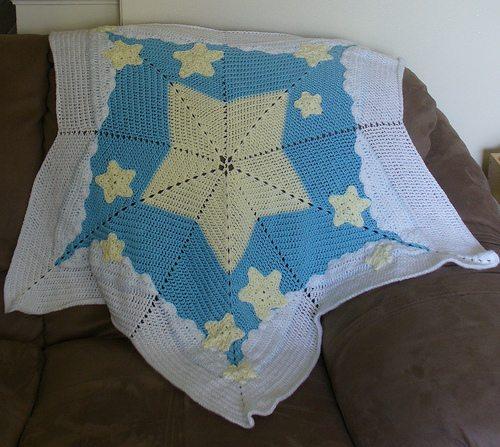 stars crochet blanket pattern