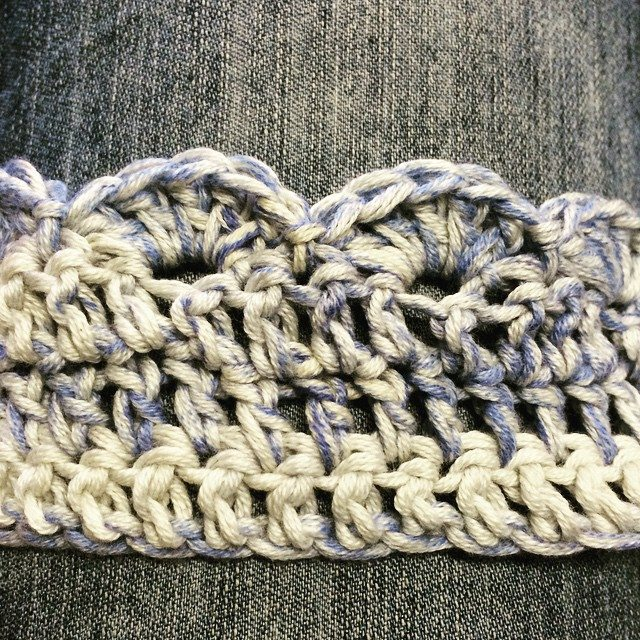 stelcrochet crochet cotton scarf