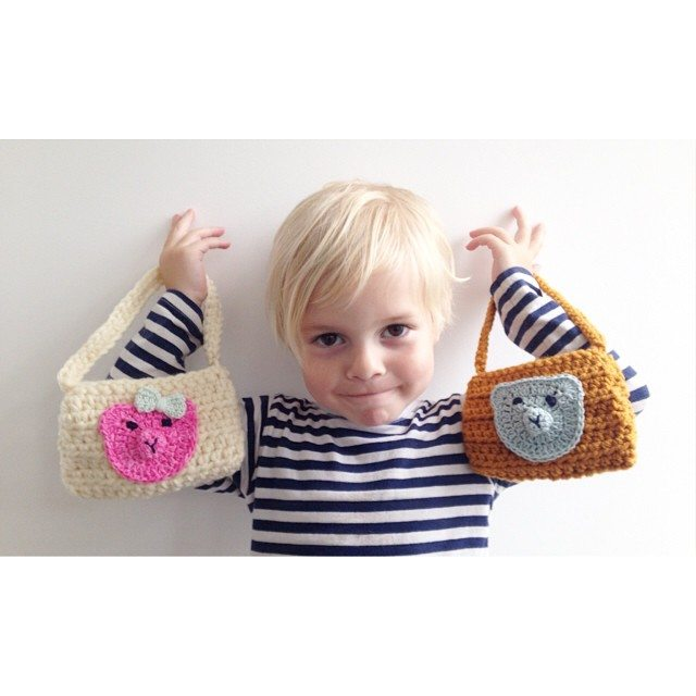 sweet_sharna crochet animal purses