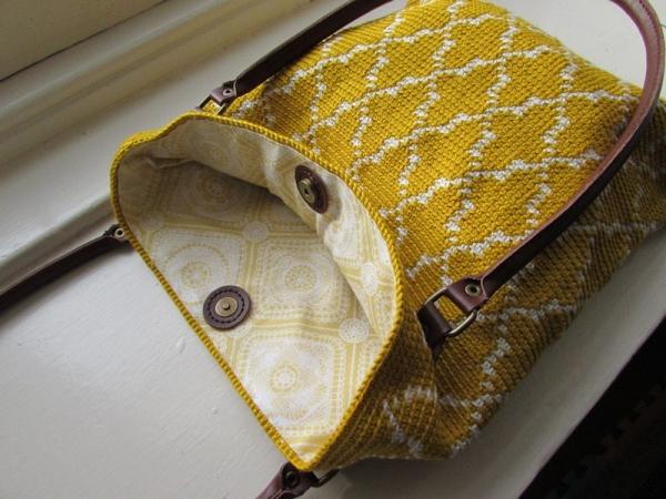 tapestry crochet tote