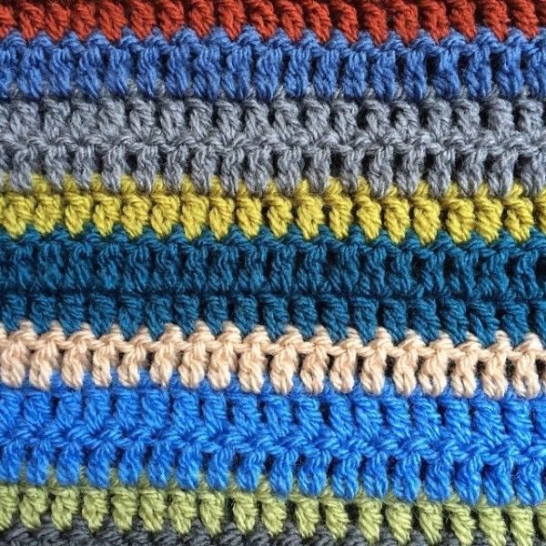 thepolkadotgiraffe crochet blanket colorful