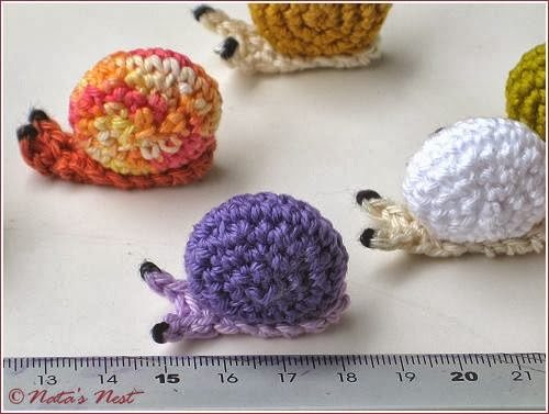tiny snails crochet pattern