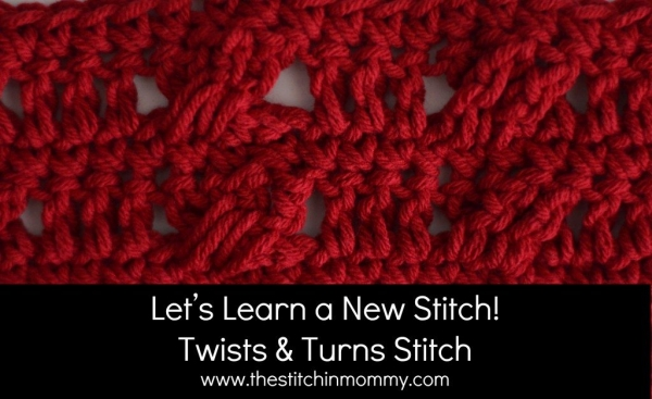 twists crochet stitch pattern