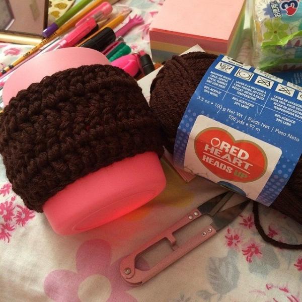 twotie14 crochet cup holder