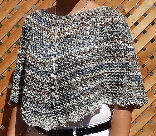 v-stitch crochet poncho pattern