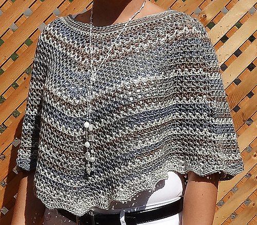 v-stitch crochet poncho pattern