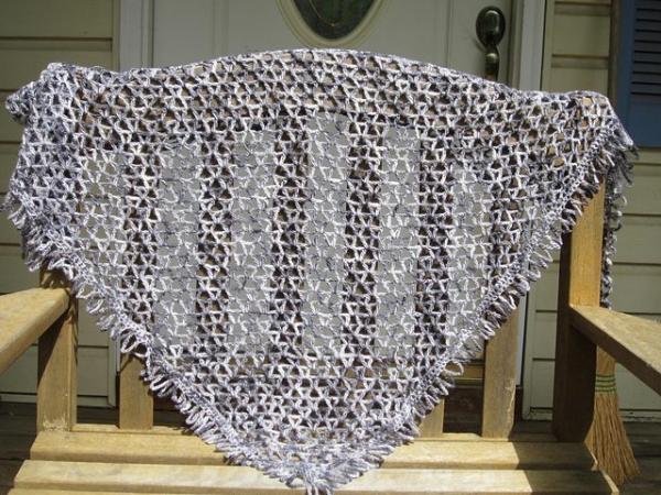 vstitch crochet shawl