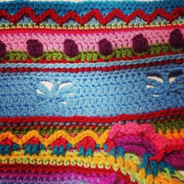 wrappedwithlovebymichelle crochet blanket colorful