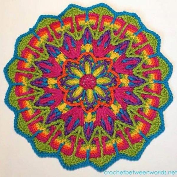 wrappedwithlovebymichelle crochet mandala