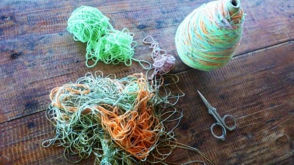 yarn scraps