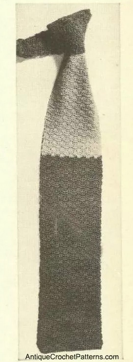 vintage crochet necktie patterns