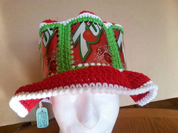 15 more upcycled crochet and recycled yarn ideas for Aluminum can crafts patterns