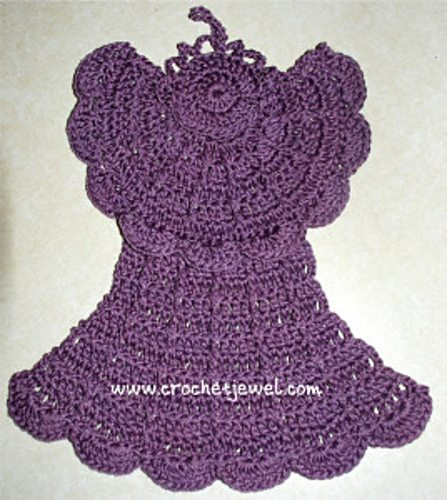 angel crochet dishcloth pattern