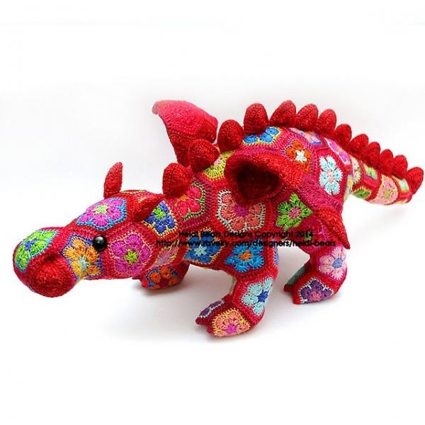 colorful dragon crochet pattern