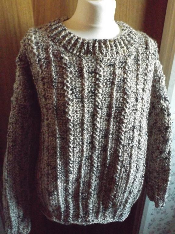 crochet aran sweater pattern
