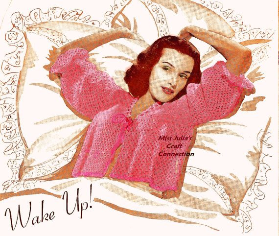 crochet bed sweater 1941 pattern