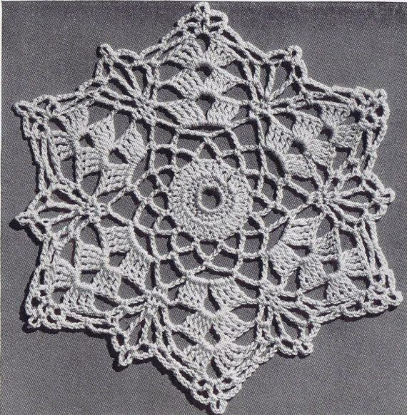 crochet bedspread motif pattern 1941