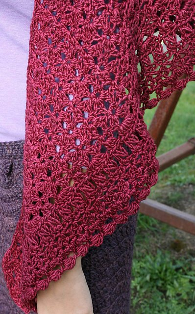 crochet broomstick lace shawl