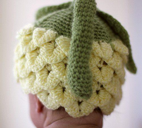 Gehaakte bloem hoed