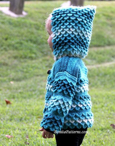 crochet hooded cardi