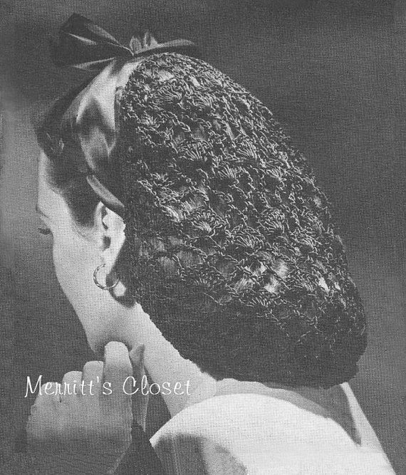 crochet snood pattern 1941