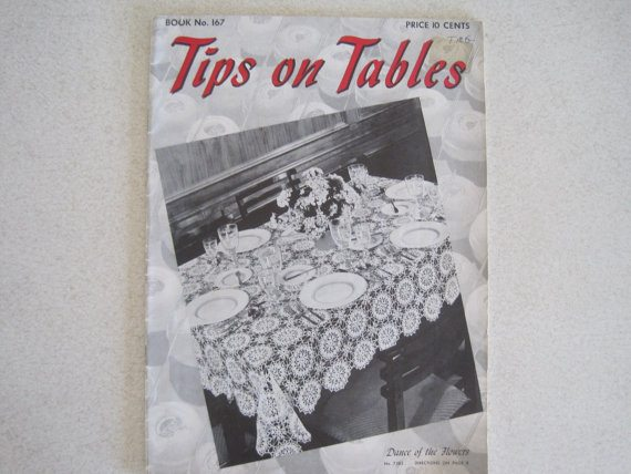 crochet tablecloths 1941