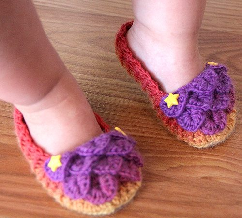 crocodile stitch baby shoes pattern