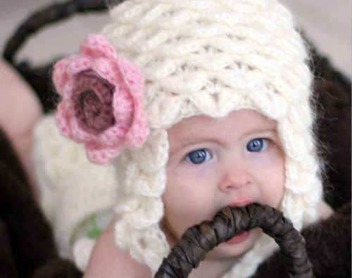 crocodile stitch crochet baby hat