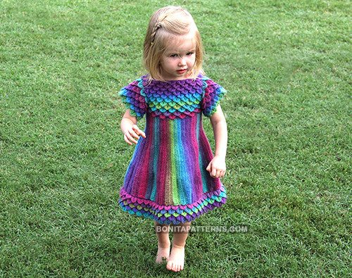 crocodile stitch crochet dress pattern
