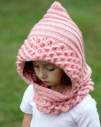 crocodile stitch crochet hood pattern