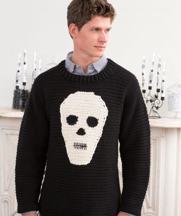 skull sweater crochet pattern