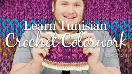 tunisian crochet color