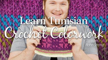 tunisian crochet color