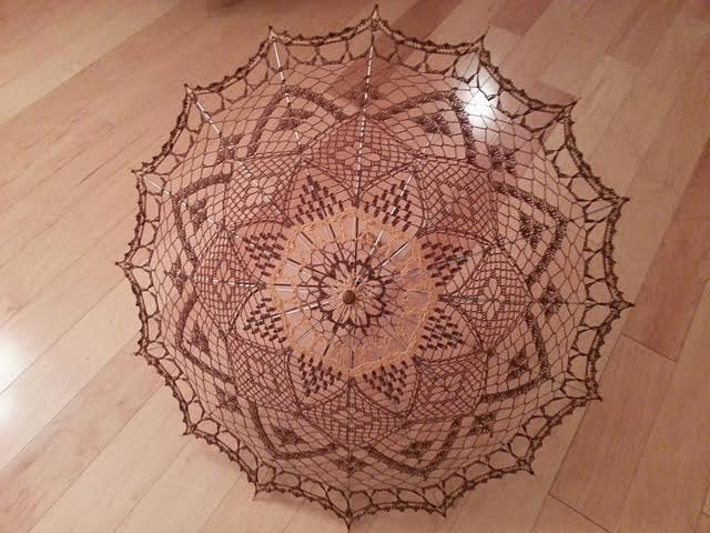 vintage crochet umbrella