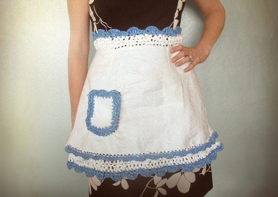 upcycle crochet apron