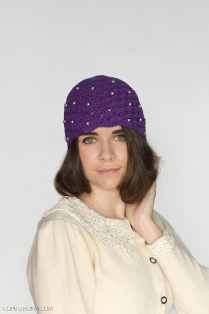 1920 Pearl Cloche Hat Crochet Pattern 3