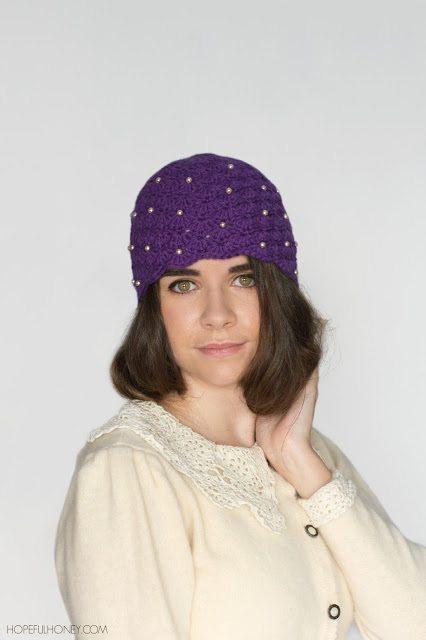 1920 Pearl Cloche Hat Crochet Pattern 3