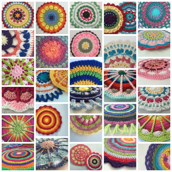 September Crochet Mandalas