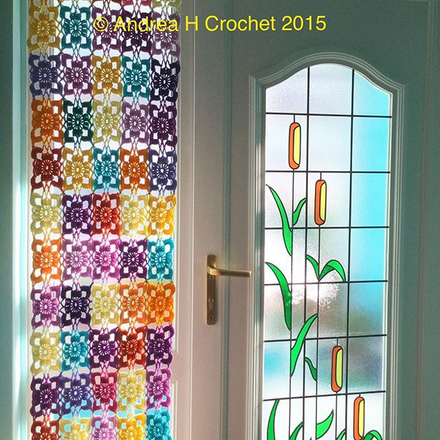 abluebirdonmyshoulder crochet curtain
