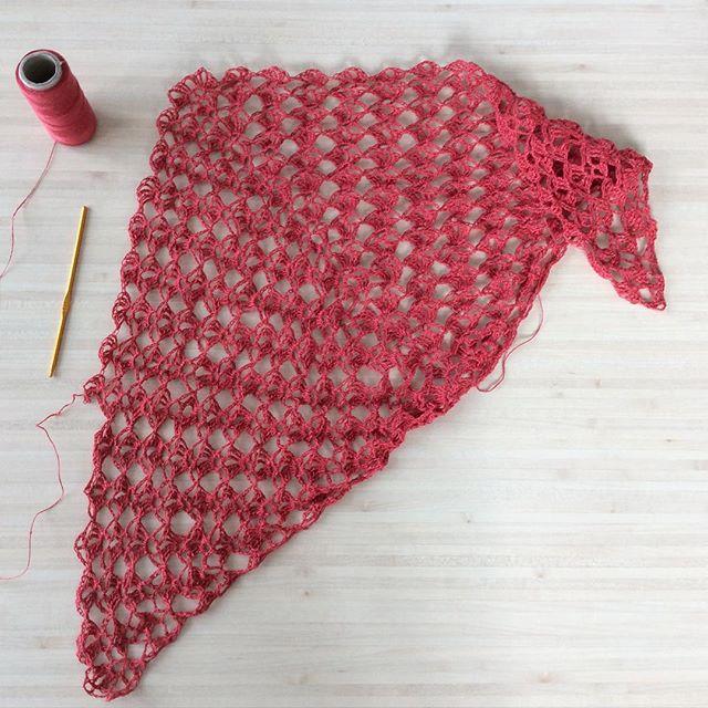 aglaelaser crochet shawl
