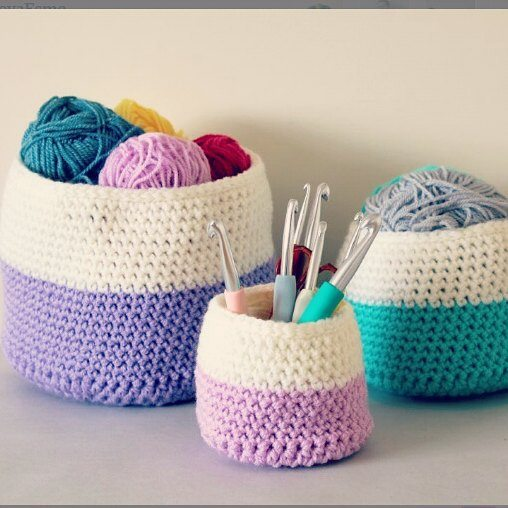 all_about_clare crochet hooks and basket