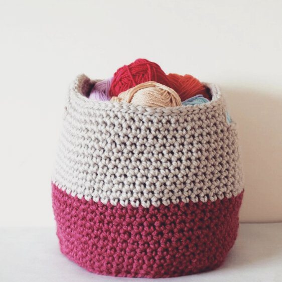 all_about_clare crochet yarn basket