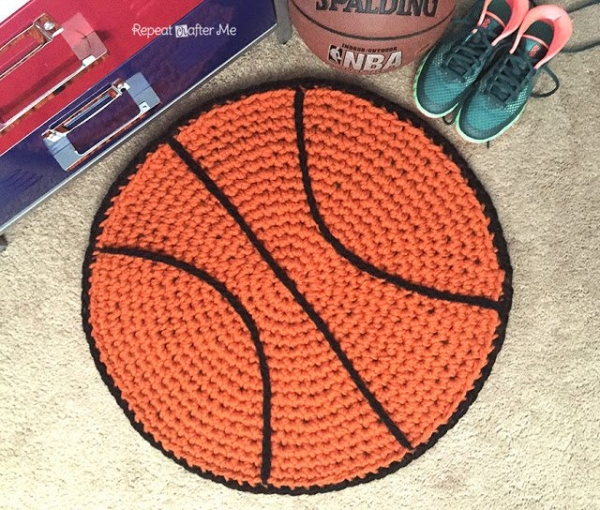 basketball rug crochet pattern
