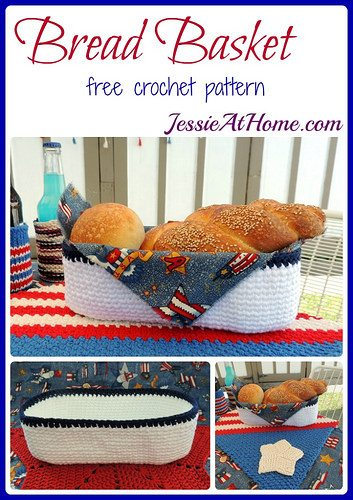bread basket free crochet pattern