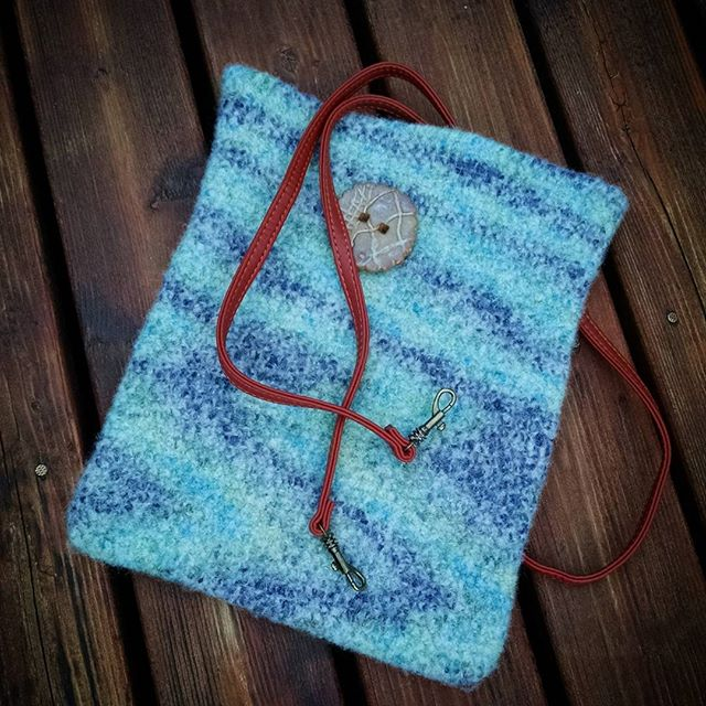 canteringcrowcolorworks crochet felted bag