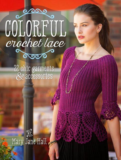 colorful crochet lace book