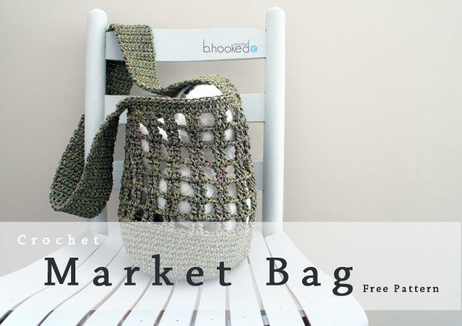 hartelijke garen gehaakte markt tas gratis patroon